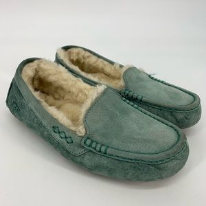 UGG Ansley Slippers In Teal Blue
